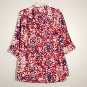 Catherines | Graphic Print Button Down Shirt